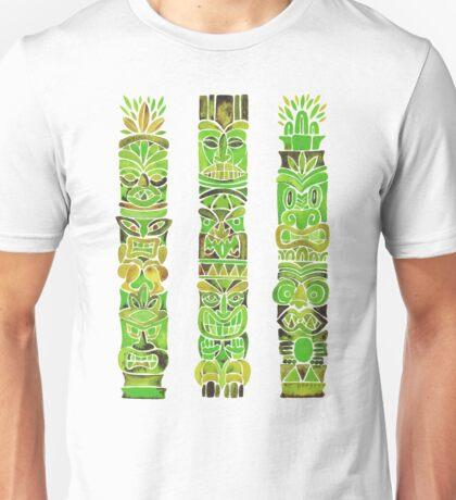 Tiki Totems – Green Unisex T-Shirt