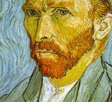 'Self Portrait' by Vincent Van Gogh (Reproduction) Sticker