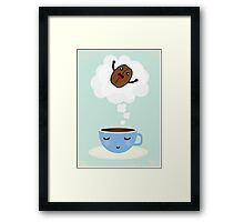 Great expectations on coffee  Framed Print