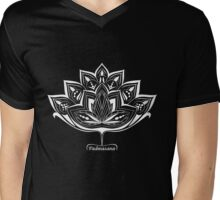 Lotus Flower Padmasana Yoga design Mens V-Neck T-Shirt