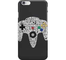 N64 Controller - Typography  iPhone Case/Skin