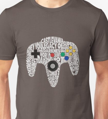 N64 Controller - Typography  Unisex T-Shirt