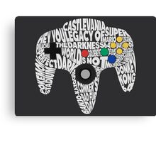 N64 Controller - Typography  Canvas Print