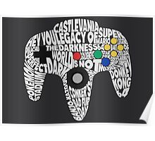 N64 Controller - Typography  Poster