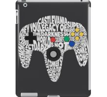 N64 Controller - Typography  iPad Case/Skin