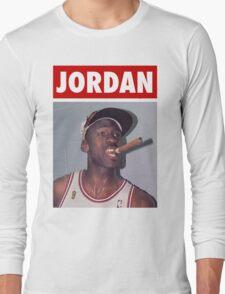 Michael Jordan (Championship Cigar) Long Sleeve T-Shirt