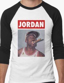 Michael Jordan (Championship Cigar) Men's Baseball ¾ T-Shirt
