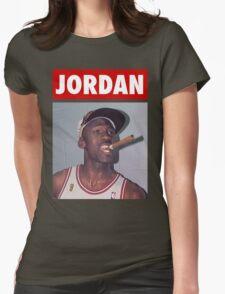 Michael Jordan (Championship Cigar) Womens Fitted T-Shirt