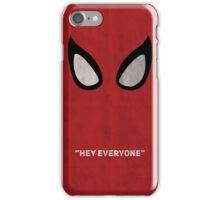 spiderman minimalist poster iPhone Case/Skin
