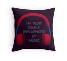 Influenced By Music Throw Pillow