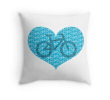For the Love of Bikes Throw Pillow