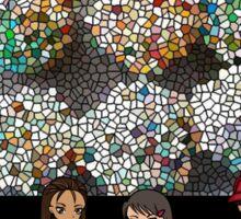 cartoon stain glass/jpcool79 Sticker
