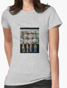 cartoon stain glass/jpcool79 Womens Fitted T-Shirt