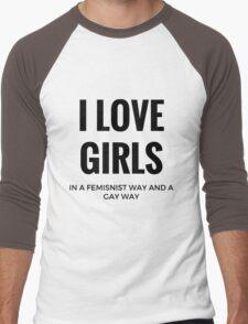 I Love Girls Men's Baseball ¾ T-Shirt
