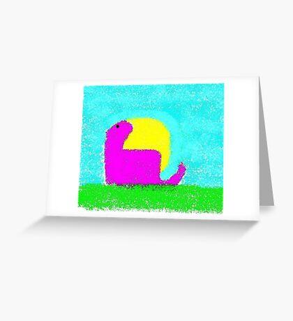 Dino by Ken Yu Greeting Card
