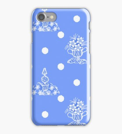 Topiary and Polka Dot Toile iPhone Case/Skin