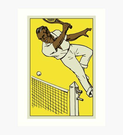 Retro tennis championship ad 1920s style Art Print