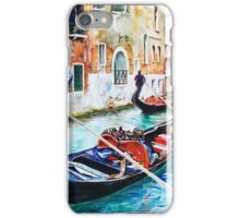 Gondola on a canal in Venice, Italy iPhone Case/Skin