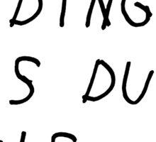 Duke Sucks Sticker