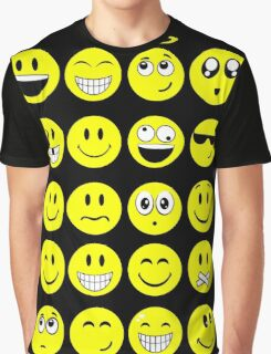 Smile smiley yellow character Graphic T-Shirt