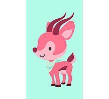 Cute Pink Gazelle Design Photographic Print