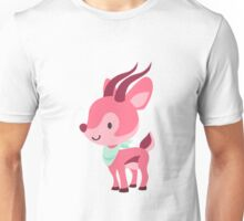 Cute Pink Gazelle Design Unisex T-Shirt