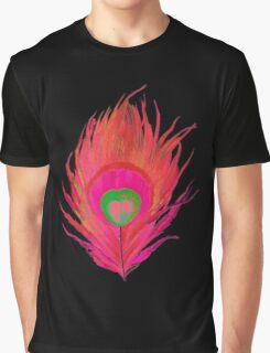 Peacock Feather Art Graphic T-Shirt