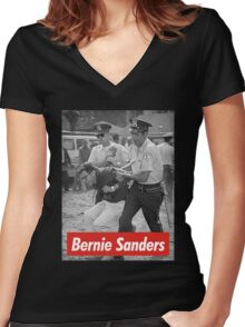 bernie sanders arrested 1963 Women's Fitted V-Neck T-Shirt
