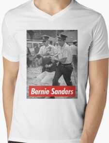 bernie sanders arrested 1963 Mens V-Neck T-Shirt