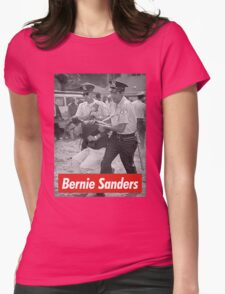 bernie sanders arrested 1963 Womens Fitted T-Shirt
