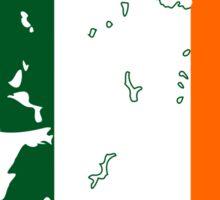 Flag Map of Ireland Sticker