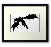 Skyrim - Alduin Silhouette Framed Print
