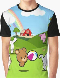 Farm Babies Play Graphic T-Shirt
