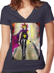 Yami Women's Fitted V-Neck T-Shirt
