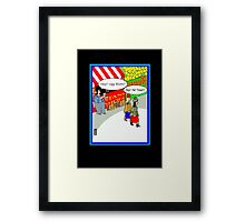 Ugg boot humour card Framed Print