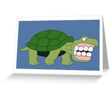 The Turtle with Grampa's Teeth Greeting Card