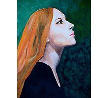 Girl Portrait Acrylic Painting Photographic Print