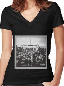 Kendrick Lamar Photos Women's Fitted V-Neck T-Shirt