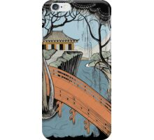 Landscape with bridge and willow iPhone Case/Skin