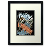 Landscape with bridge and willow Framed Print