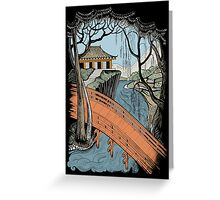 Landscape with bridge and willow Greeting Card