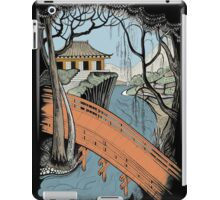 Landscape with bridge and willow iPad Case/Skin