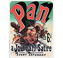 Pan, a journal of satire by Jules Chéret advert Photographic Print
