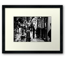 London street - bar Framed Print