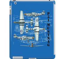 Blueprint Mustang iPad Case/Skin