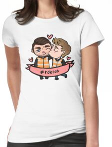 TEE: Scrapyard Boyfriends (with #Robron banner) Womens Fitted T-Shirt