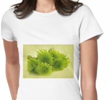 Green Spider Chrysanthemums Womens Fitted T-Shirt