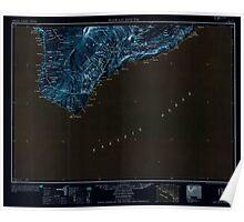 USGS TOPO Map Hawaii HI Hawaii South 349922 1954 250000 Inverted Poster