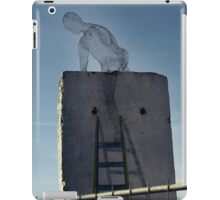 climbing over a wall iPad Case/Skin