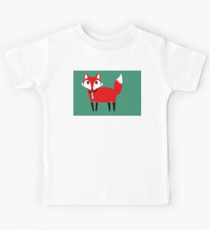 FOX WITH TIE Kids Tee